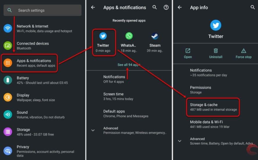 Como Limpar o Cache do Twitter no Android