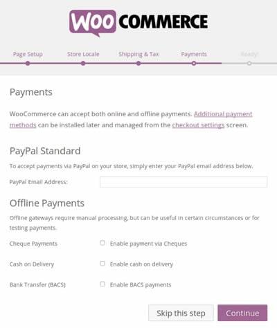 WooCommerce - Pagamentos