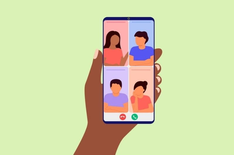 Iniciar reunião Google Meet através de um smartphone ou tablet